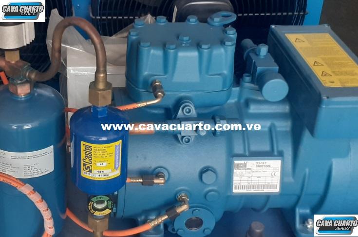 UNIDAD CONDENSADORA 3HP FRASCOLD R134 / R404 SEMI-HERMETICO / DIFUSOR 3HP - PUERTO