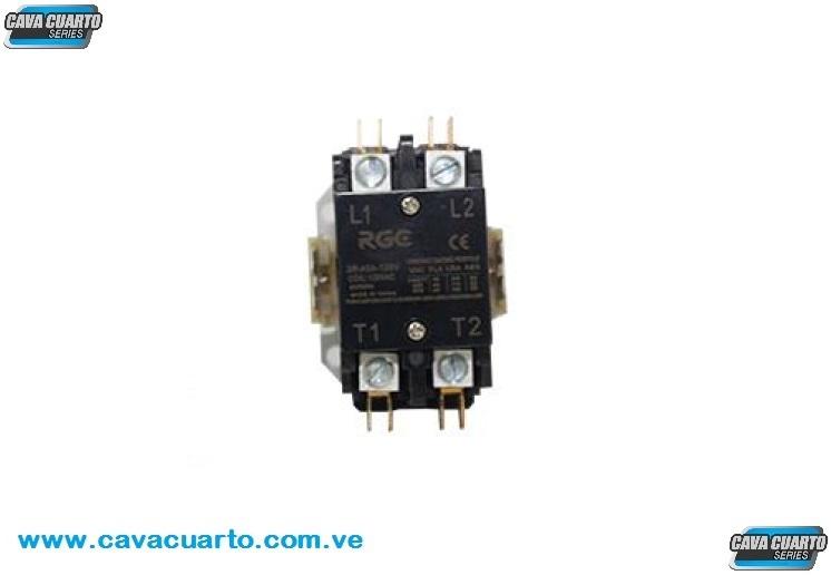 CONTACTOR 2 POLO 40 AMPS COIL 120V 60Hz - RGC - CONTACTORES BOBINAS 110v