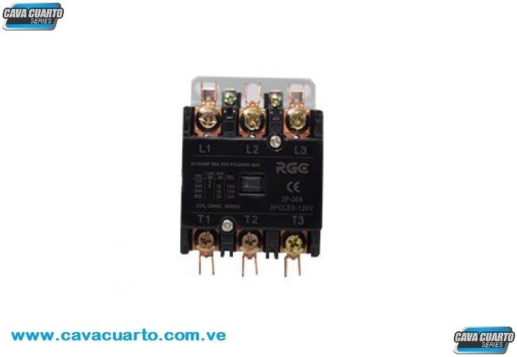 CONTACTOR 3 POLO 35 AMPS COIL 120V 60Hz - RGC - CONTACTORES BOBINAS 110v
