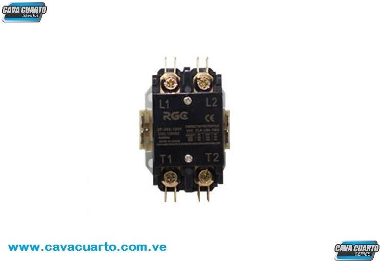 CONTACTOR 2 POLO 30 AMPS COIL 120V 60Hz - RGC - CONTACTORES BOBINAS 110v