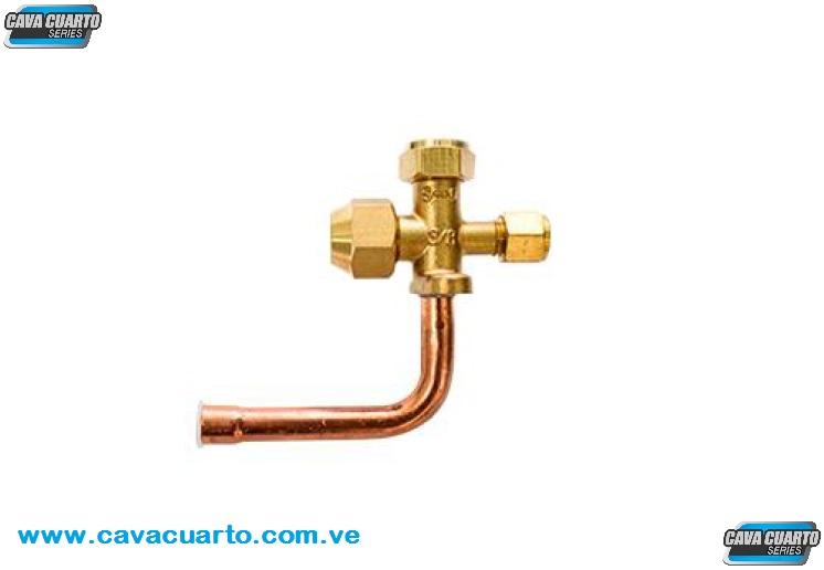 VALVULA DE SERVICIO A/A SPLIT 3/8 PULG R-410A VAAC-3/8 RGC